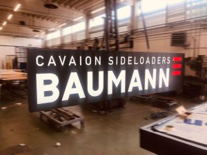 Cassonetto luminoso grande formato Baumann