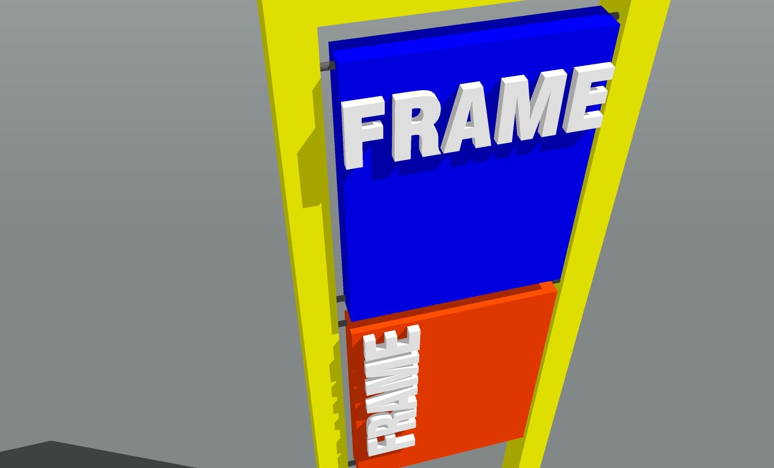 frame totem design